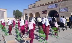 مراسم بازگشایی مدارس در سندرک برگزار شد