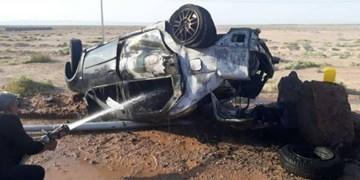 برخورد پژو و تریلی با 3 کشته در اطراف نصرت آباد