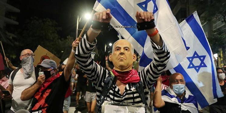 هزاران نفر در سرزمینهای اشغالی علیه نتانیاهو تظاهرات کردند