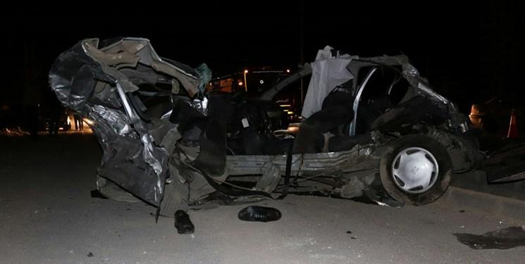 سه کشته و یک مجروح در پی پرواز خودروی امجی در پردیس+عکس