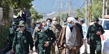 فیلم  حضور میدانی فرمانده سپاه نینوا گلستان در مناطق زلزلهزده روستای «قورچای» رامیان