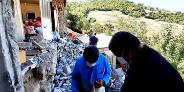 فیلم| اردوی جهادی طلاب بسیجی گرگان در مناطق زلزلهزده رامیان