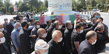 جانباز شهید مرتضی طاهری در جوار همرزمانش آرام گرفت