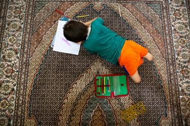 یکی از تفریحات محمد مهدی به غیر از ورزش، نقاشی کردن است .