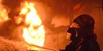 آتش سوزی در  بازار شیخ صفی  تبریز