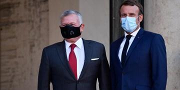 رایزنی شاه اردن و رئیسجمهور فرانسه درباره تحولات منطقه