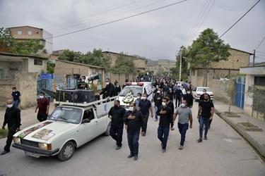 حضور باشکوه مردم روستای سید میران گرگان در مراسم تشییع چهارمین شهید مدافع سلامت گلستان