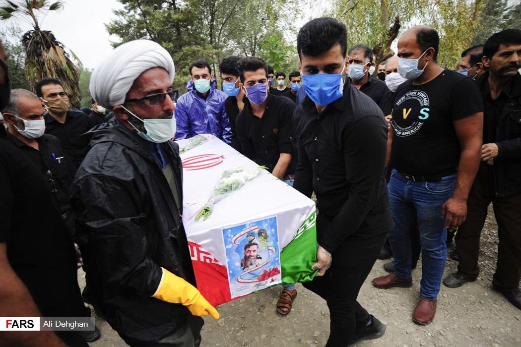 مراسم تشییع چهارمین شهید مدافع سلامت گلستان
