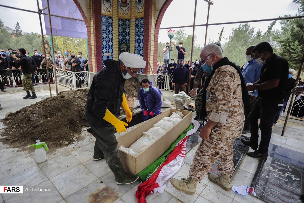 مراسم خاکسپاری شهید سهیلی فرد چهارمین شهید مدافع سلامت گلستان