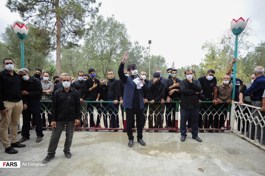 مداحی ذاکر اهل بیت در مراسم تشییع شهید سهیلی فرد در روستای سید میران گرگان