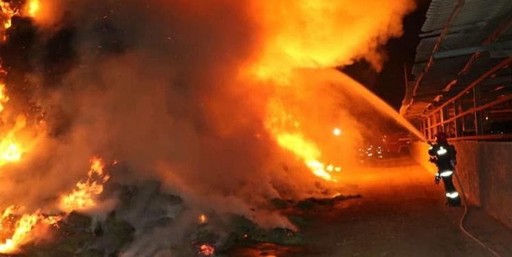 پاركينگ،حادثه،ساختمان،حريق،نيروهاي،هيدروليكي