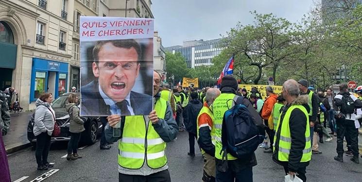فیلم | معترضان «جلیقه زرد» دوباره در پاریس تظاهرات کردند
