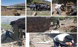 رفع تصرف از ۳۳ هزار و ۵۰۰ مترمربع از اراضی ملی در چالوس