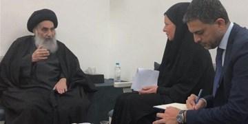 دیدار نماینده سازمان ملل با آیتالله سیستانی در نجف اشرف