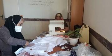 تولید ماسک در مدارس استثنایی کردستان