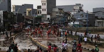 وقوع سیل در اندونزی یک کشته بر جا گذاشت