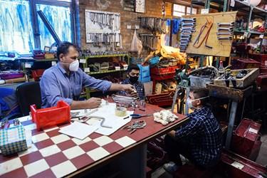 کارگاه آموزشی هنرستان پسرانه شهید سروندی در منطقه ۱۲ تهران