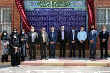 حضور اصحاب رسانه و گروههای جهادی مدرسهساز مدرسهساز در مدرسه تازه تاسیس نوجوانان در منطقه ۴ تهران