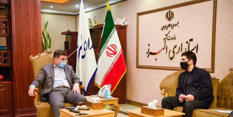 دیدار رئیس فدراسیون کشتی با استاندار البرز