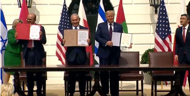 توافق سازش میان رژیم صهیونیستی با امارات و بحرین امضا شد