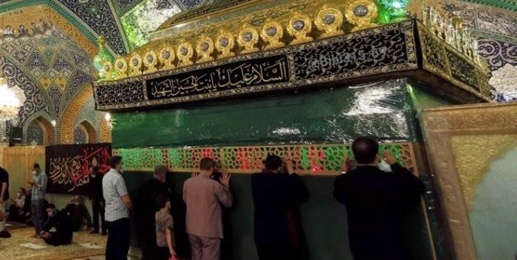 نردههای اطراف ضریح حرم حضرت رقیه (س) برداشته شد+عکس