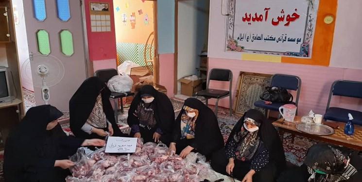 تهیه و تولید ماسک توسط جمعیت بانوان فرهیخته دینی ایلام بین نیازمندان استان