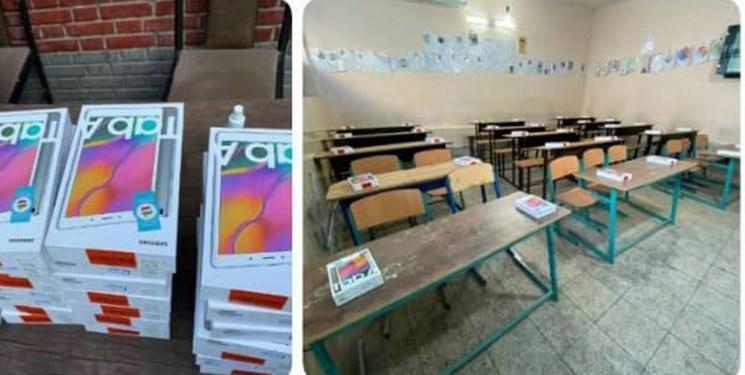 تداوم کمکهای مومنانه| اهدای  ۳۲  تبلت به دانشآموزان نیازمند توسط نیکاندیش لامردی