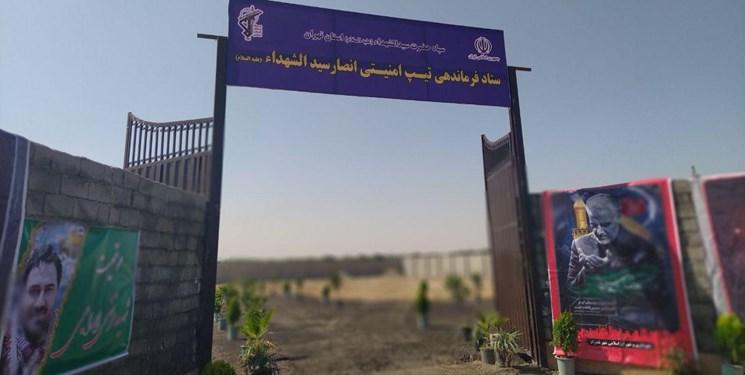 کلنگزنی ستاد فرماندهی تیپ امنیتی انصار سیدالشهدا(ع) استان تهران در شهریار