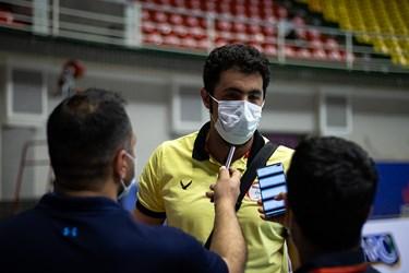 علی طائیحق مربی تیم والیبال آذرباتری ارومیه در مصاحبه با خبرنگاران در پایان مسابقه