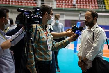 مصاحبه خبرنگاران با مجید تابشنژاد سرمربی شهرداری ورامین در پایان مسابقه