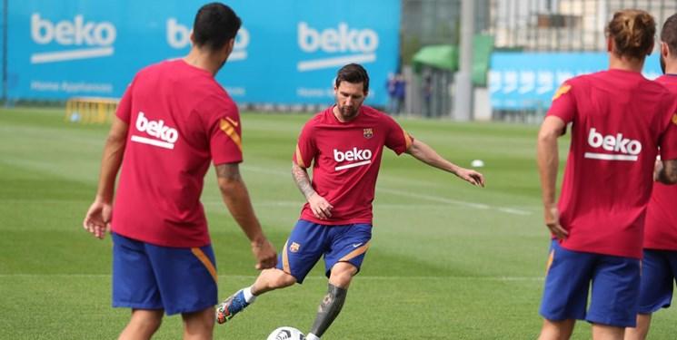 تمرینات بارسلونا با حضور پیانیچ، مسی و سوارس / آرامش به اردوی کومان رسید؟ +تصاویر