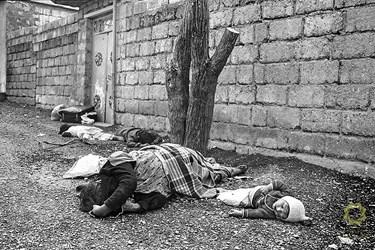 عراق، حلبچه/ 27 اسفند 1366 بمباران شیمیایی مردم بی دفاع حلبچه توسط ارتش عراق.
