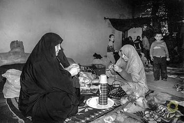 تهران، امیریه، پناهگاه زیر زمینی دبیرستان شرف / اسفند 1366