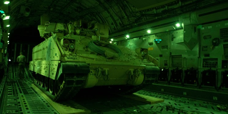 آمریکا در سوریه خودروهای زرهی مستقر کرد