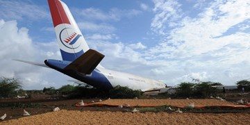 سانحه در فرودگاه بینالمللی سومالی  و سقوط هواپیمای باری