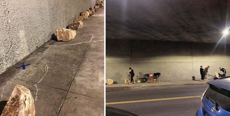 برخورد بیشرمانه با بیخانمانها در آمریکا/ وقتی زندگی در زیرگذر هم به آرزو تبدیل  میشود!