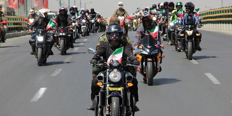 برگزاری مانوری متفاوت در پایتخت/ موتورسواران خوب سوا شدند
