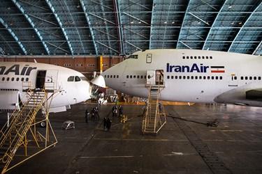بوئینگ آمریکایی اورهال شده توسط متخصصان ایرانی در آشیانه شماره یک ایرانایر در فرودگاه مهرآباد