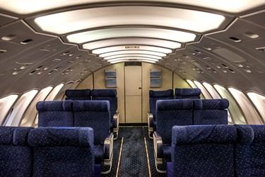 اتاق محل استقرار خدمه پرواز در طبقه دوم هواپیمای باربری بوئینگ 747