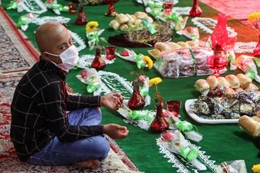 این مراسم با حضور جمعی از کودکان مبتلا به سرطان در اهواز برگزار شد