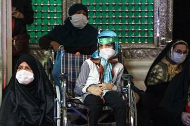 حضور کودکان به همراه خانواده در مراسم سوگواری شهادت حضرت رقیه (س) در اهواز
