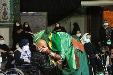اجرای تئاتر مصائب حضرت رقیه (س) توسط گروه هتری انشان در حرم حضرت علی بن مهزیار اهوازی