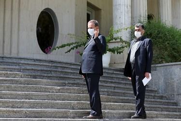 اسحاق جهانگیری معاون اول رئیس جمهور پس از پایان جلسه هیأت دولت / ۲ مهر ۱۳۹۹