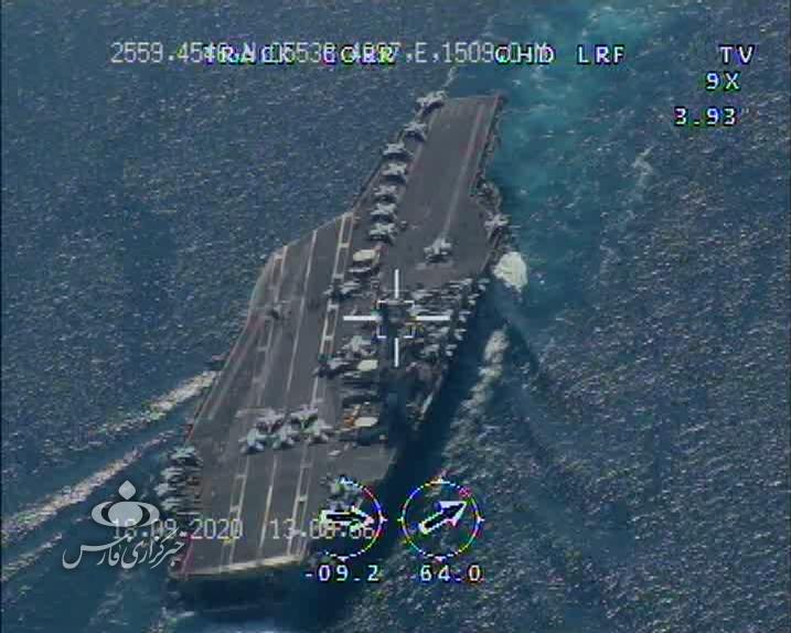 13990702000863 Test NewPhotoFree - تصاویر رهگیری و شناسایی ناوگروه «نیمیتز» آمریکا توسط پهپادهای سپاه