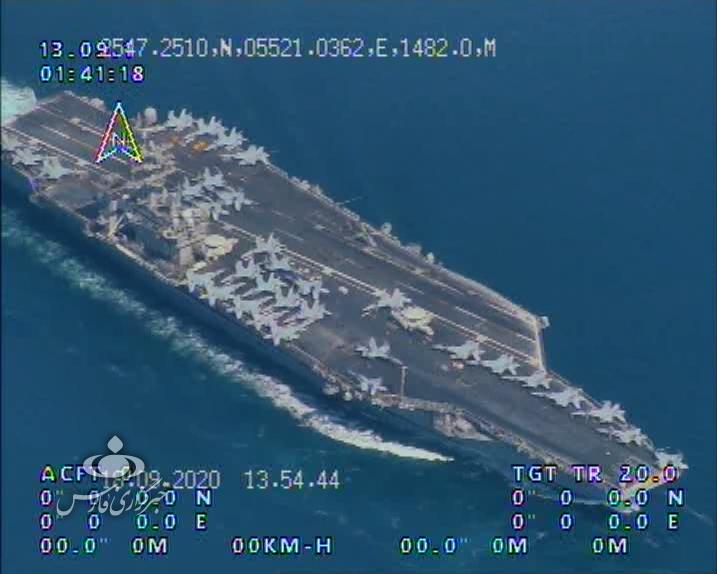 13990702000865 Test NewPhotoFree - تصاویر رهگیری و شناسایی ناوگروه «نیمیتز» آمریکا توسط پهپادهای سپاه