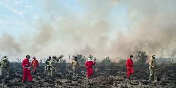مهار آتشسوزی در پناهگاه حیات وحش میانکاله/ 4 هزار مترمربع از مراتع در آتش سوخت