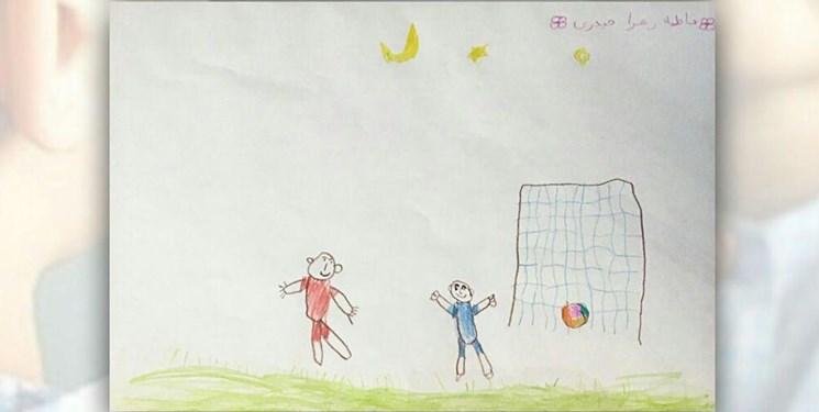 اهدای نقاشی کودکان مبتلا به سرطان به باشگاه تراکتور/پیام قدردانی مالک باشگاه تراکتور از کودکان مبتلا به سرطان