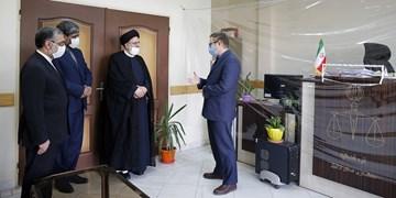 بازدید سرزده رئیس قوه قضاییه از مجتمع قضایی شهید قدوسی اردبیل