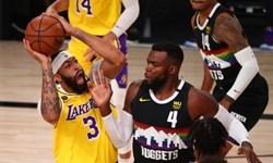 لیکرز در یک قدمی قهرمانی کنفرانس غرب NBA+عکس