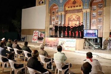 اجرای گروه سرود میثاق مهاجرین در همایش پیشکسوتان دفاع مقدس در سرخه